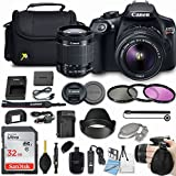 Canon EOS Rebel T6 18MP DSLR Camera with Canon EF-S 18-55mm f/3.5-5.6 IS II Lens + 32GB Sandisk Memory Card + Deluxe Camera Bag + 3 Pc Filter Kit, More Accessories