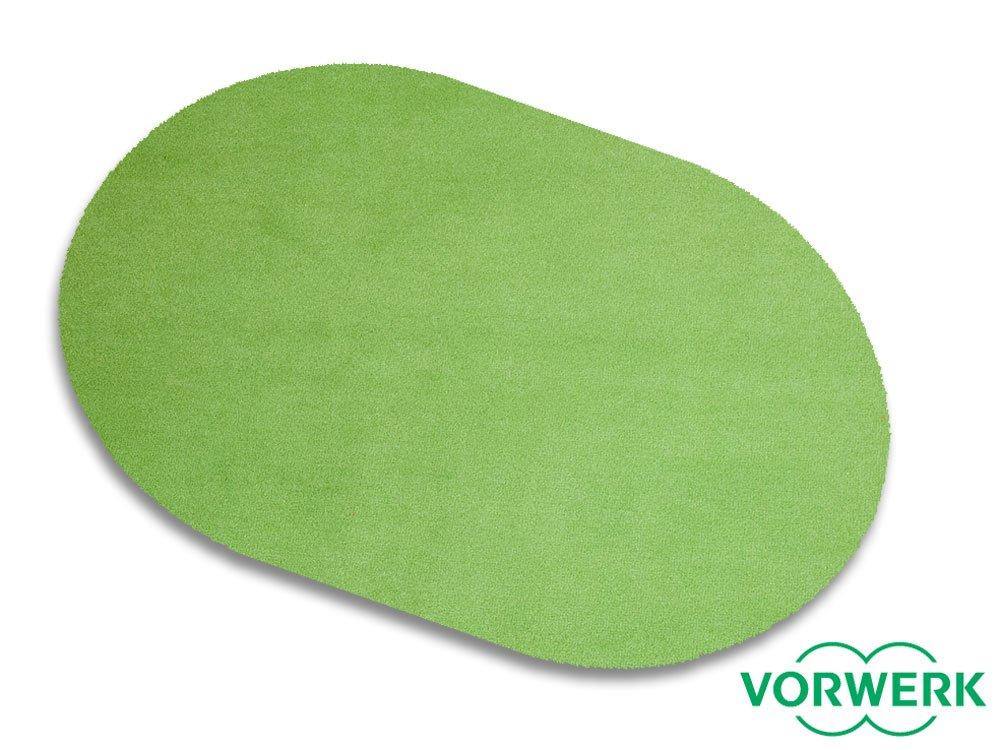 Vorwerk Bijou grün der HEVO® Spielteppich nicht nur für Kinder 200x280 cm Oval