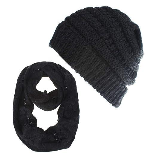 ea55c44e545 Women Men Knit Scarves Hats Sets