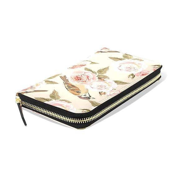75921d862b3e Magpie And White Rose Women's New Purse Zipper Purse Clutch Bag Card ...