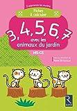 Fiches à calculer 3,4,5,6,7 avec les animaux du jardin
