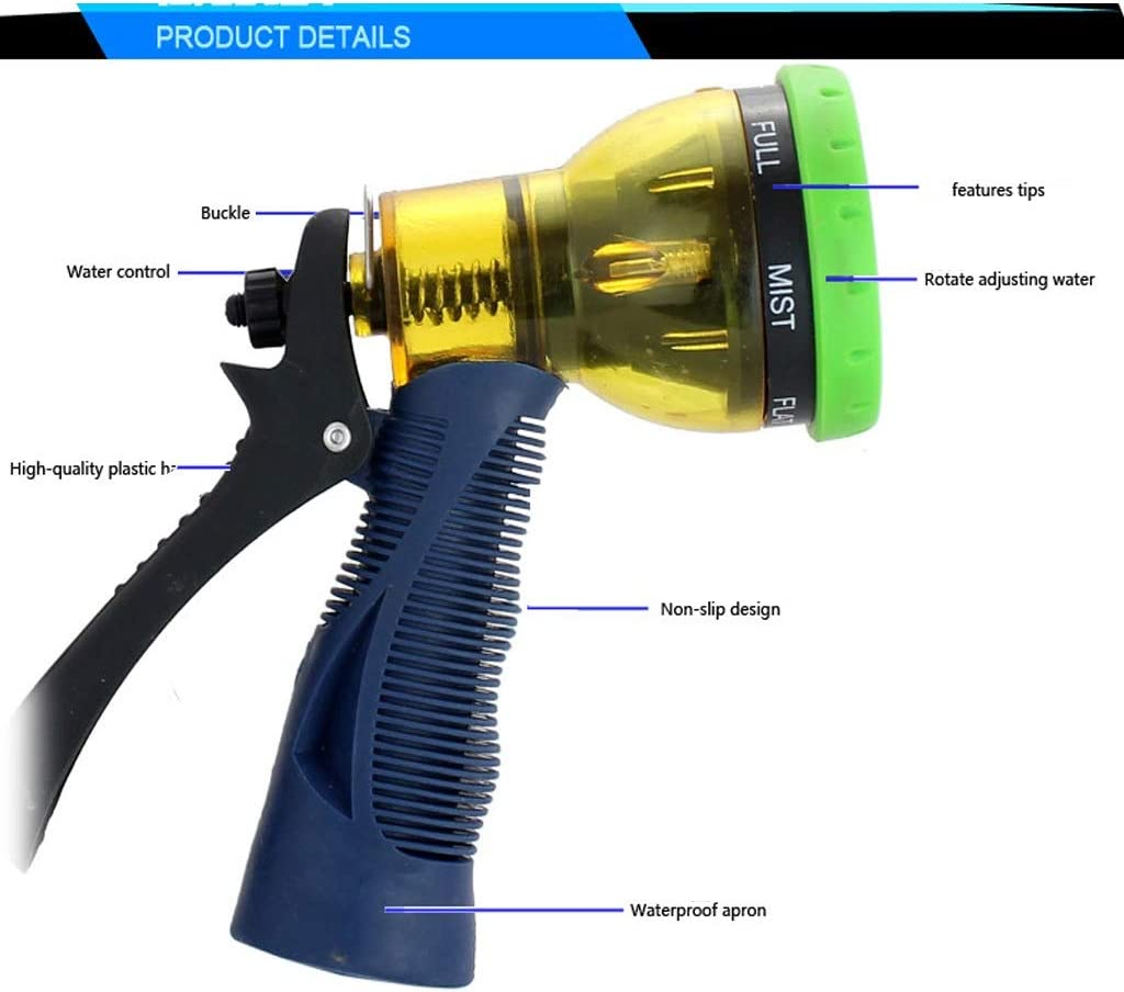 KXBYMX garden hoses Garden hose nozzles for watering lawns and flowers, patio and an ideal choice in the yard washing and cleaning items spray nozzles for garden hos (Color : A) D