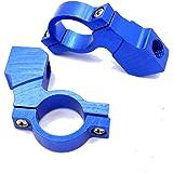 22.2パイ用 M10ボルト 正ネジ ピッチ1.25 ミラーホルダー BLUE 1個入り ナビ スマホ ETC ビデオ ホルダー 汎用マルチホルダー 左右共通デザイン