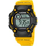 Calypso Montre Homme Digital for Man digital Quartz PU jaune Montre bracelet UK5694/1