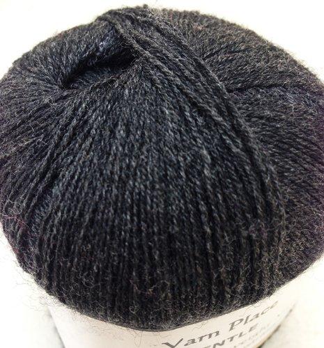 012 Yarn - Yarn Place Gentle Luxurious Lace Yarn Cashmere Merino Blend (50g, Dark Charcoal 01-2)