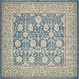 Cheap Unique Loom Salzburg Collection Traditional Oriental Light Blue Square Rug (8′ x 8′)