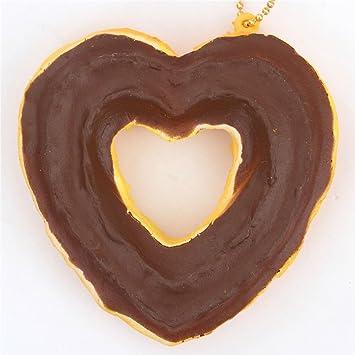 Lindo colgante blando Cafe de N Squishy kawaii churro corazón cobertura marrón chocolate: Amazon.es: Juguetes y juegos