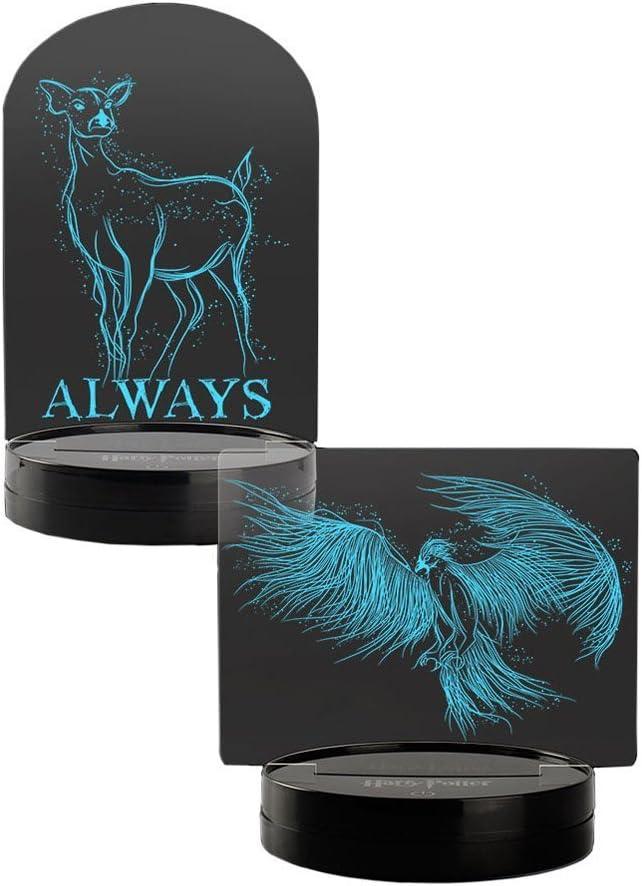Warner Brothers Harry Potter Acrylic LED Light Set Dumbledore Snape Patronus, Black/Clear
