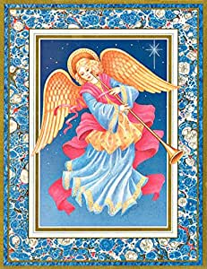 Caspari Angel with Horn Boxed Christmas Cards Box of 16 Cards