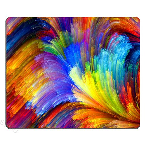 SSOIU Fractal Rainbow Ocean Mouse Pad,Colorful Cool Mouse pad 9.5