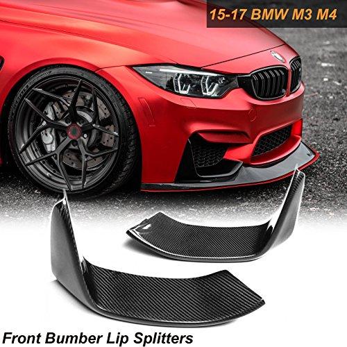 1 Set Carbon Fiber Splitters Bumper Spoiler Lips Set For BMW M3 M4 F80 F82 F83 2014-2018