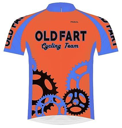 31b61146e Primal Wear Old Fart Cycling Team Sprockets Jersey Men s XL Short Sleeve  Bright Orange
