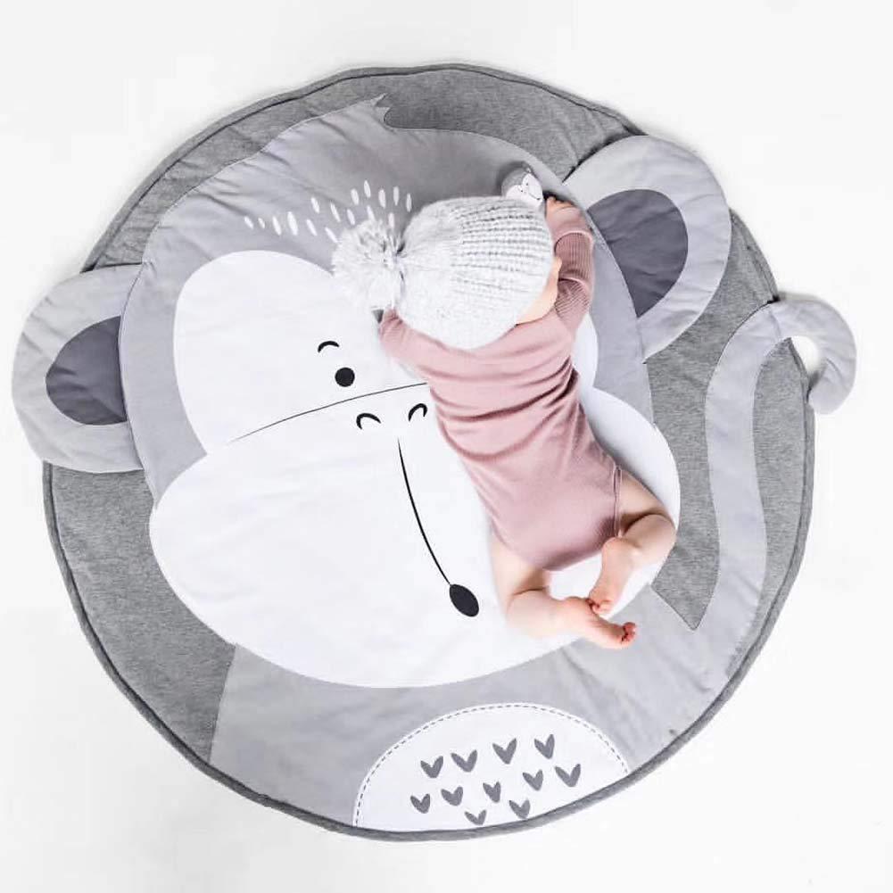 Cute Cartoon Round Carpet Rug Baby Loves Playmat