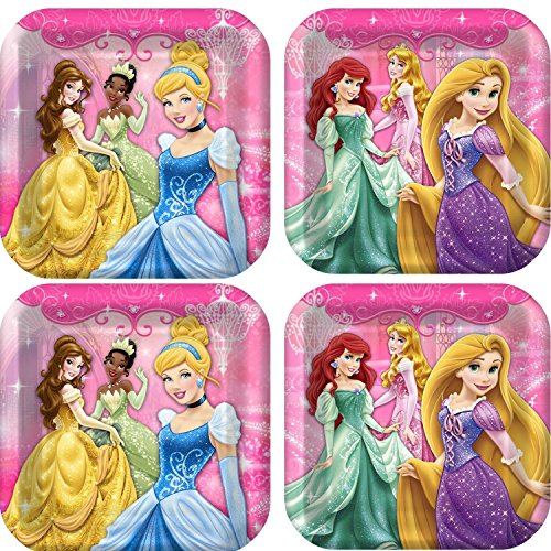 Disney Very Important Princess Dream Party Dinner Plates. 24 plates. Bundle of 3.