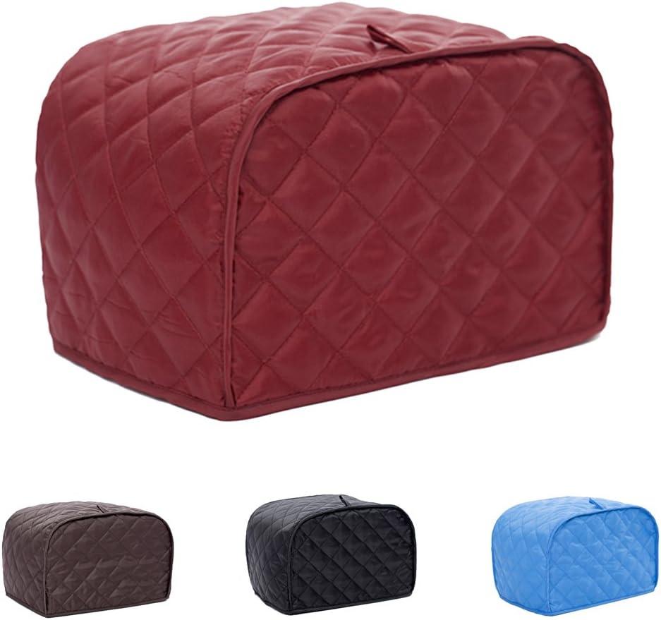 Rosso Copertura Tostapane in Cotone Cover Protezione Polvere Mantenere Asciutta Pulita 2 Fetta