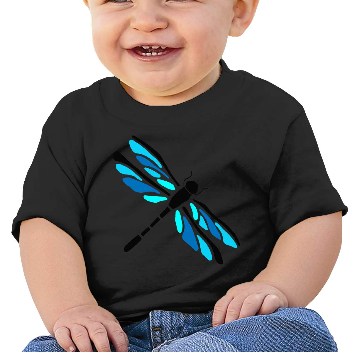 Dragonfly Funny Newborn Baby Newborn Short Sleeve T-Shirt 6-24 Month Soft Tops