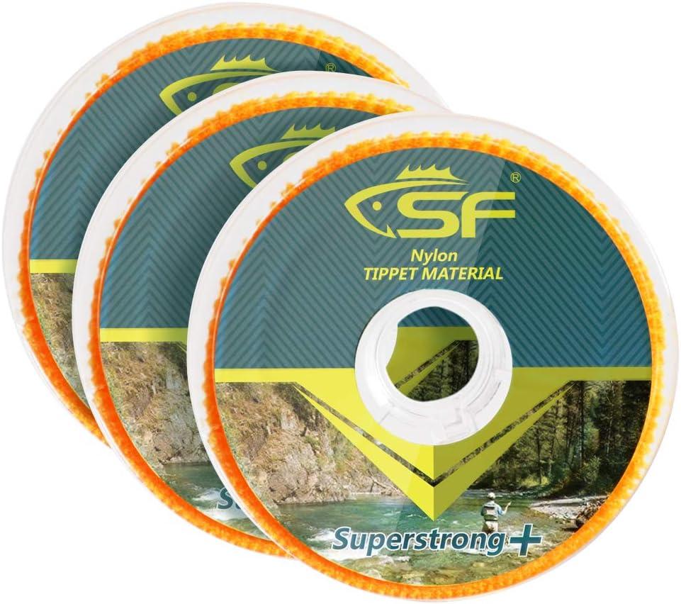 4X 5X SF Fly Fishing Tippet line Clear Nylon 3X 6X Tippet Angelschnur f/ür Fliegenfischen