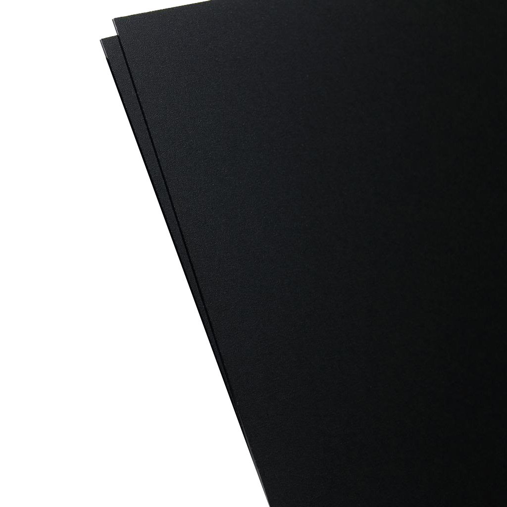 Plastics 2000 - KYDEX Sheet - 0.060'' Thick, Black, 12'' x 12'', 2 PACK