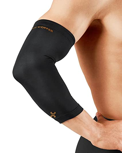 4940d9787f2d23 Tommie Copper Men's Recovery Vantage Elbow Sleeve, Black, Small