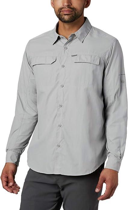 Columbia Silver Ridge 2.0 - Camisa de Manga Larga para Hombre, protección Solar UV, Color Plateado: Amazon.es: Deportes y aire libre
