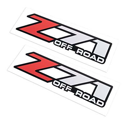 2X Z71 Off Road Decals Stickers for Chevy Silverado Z71 2001-2006 Bed Side 1500 2500 HD (01-06 Red): Kitchen & Dining