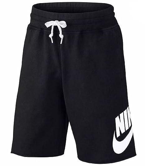 NIKE Men's AW77 Sportswear Alumni Black Shorts (XL)