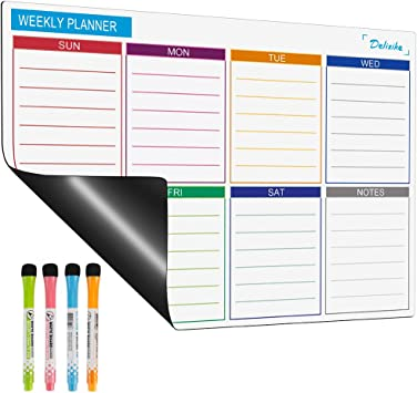 17 x 13 Fridge Calendar with 5 Markers /& Large Eraser Magnetic Dry Erase Calendar Whiteboard for Refrigerator