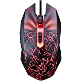 USB Wired Gaming Mouse, Light Up Mouse for Laptop with Led Rainbow, Avago Processer, DPI Adjustable Up to 5000, Ergonomic Gam