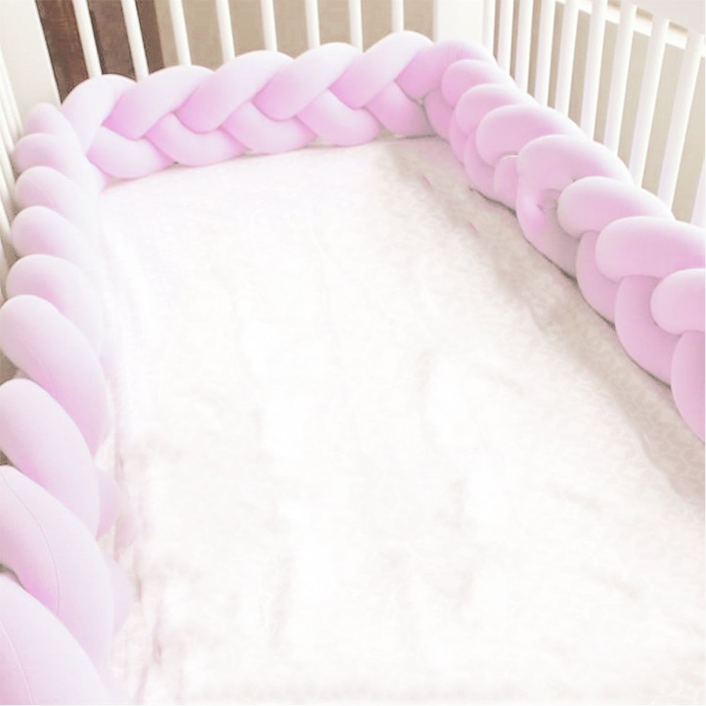 300cm, Pink Baby Crib Bumpers Braids Protective Snake Pillow Home Decoration 39 59 79
