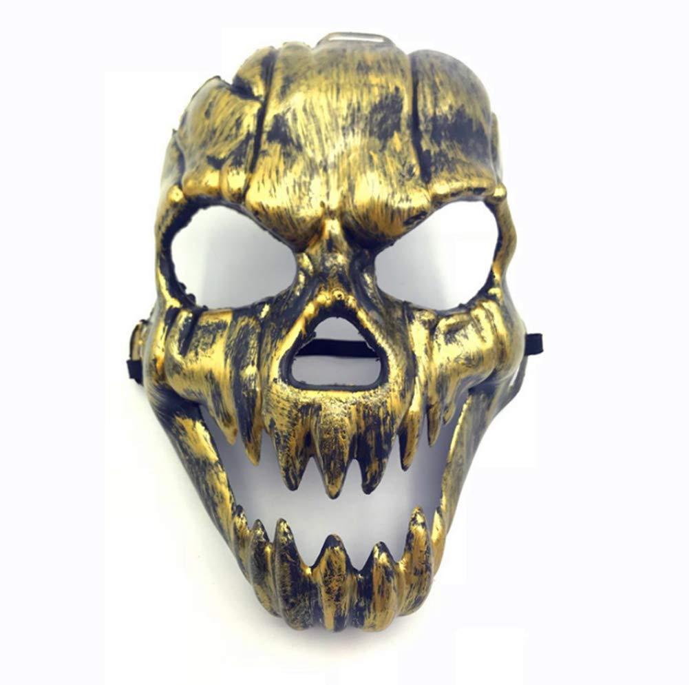 Markcur Herren Retro Gold Maskerade Karneval Partei Maske Schutzmaske Totenkopf Halloween Maske