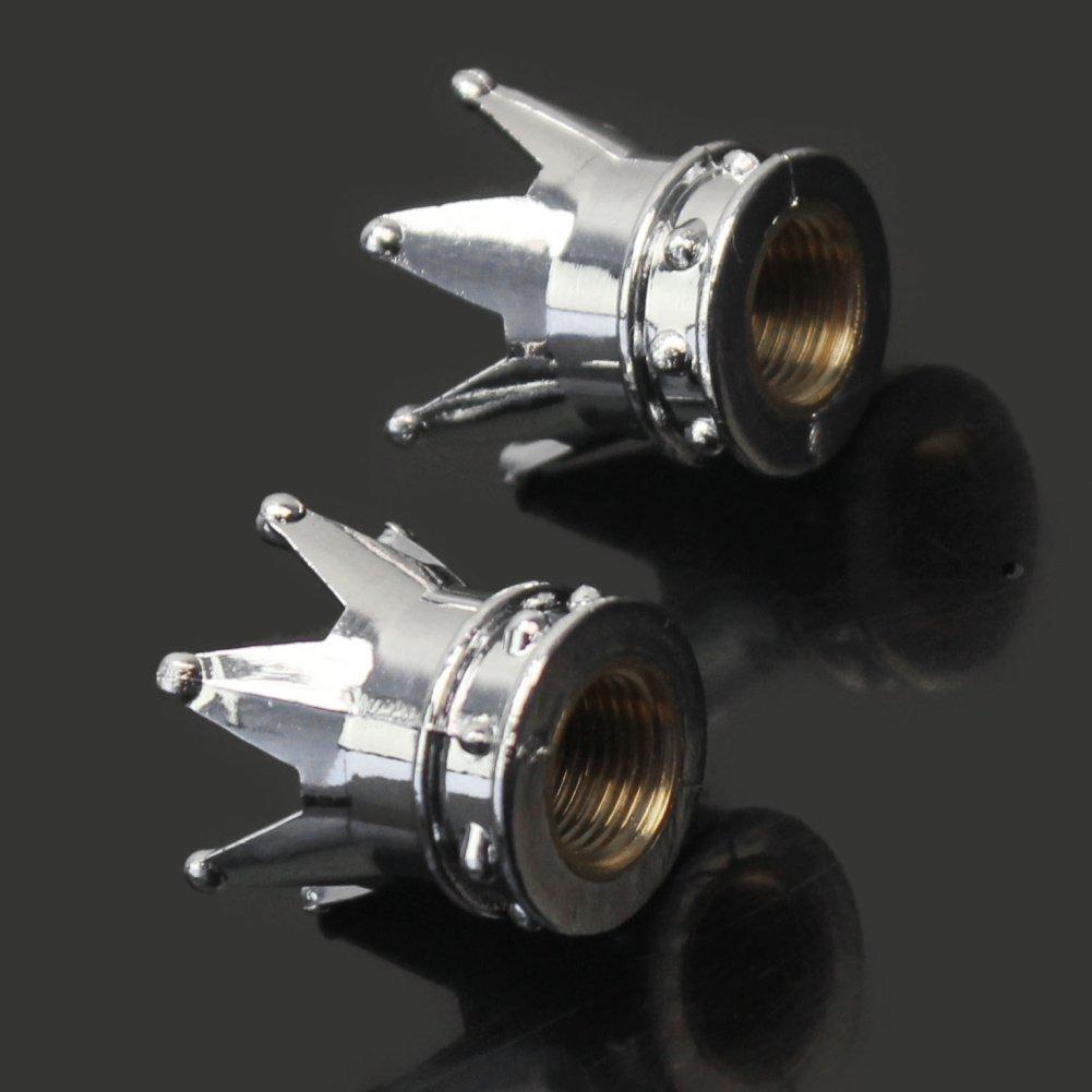 2X Krone 8mm Fahrradventil Fahrrad Motorrad Auto Ventil Ventilkappen Staubkappen