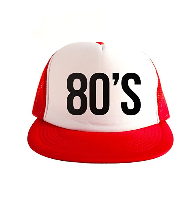 0f9586d776a Image Unavailable. Image not available for. Color  80 s Cool Swag Hip Hop  Print 80s Style Snapback Hat Cap Red