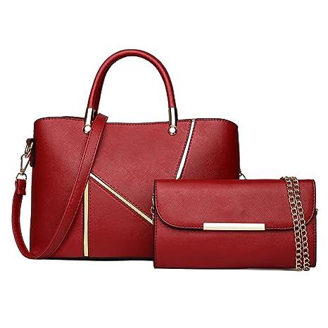 DEERWORD Mujer Shoppers y bolsos de hombro Bolsos bandolera Carteras de mano y clutches Burdeos