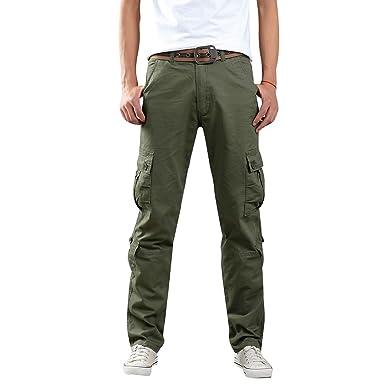 Allthemen Herren Cargohose Jogging Pants mit Mehreren Taschen  Amazon.de   Bekleidung eaadabc54b