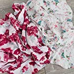 2-Pack-Softest-Bamboo-Muslin-Swaddle-Blankets-for-Baby-70-Bamboo-30-Cotton-XL-47x-47-by-Graced-Soft-Luxuries-Floral-Garden