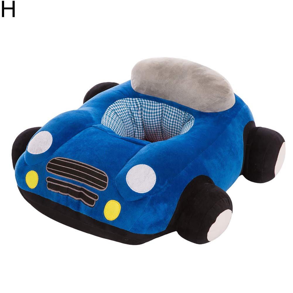 Kalaokei Infant Baby Colorful Car Shape Support Seat Plush Sofa Learning Sit Keep Sitting Chair