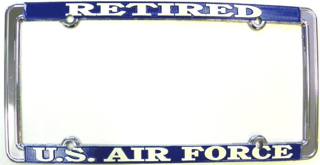 Air Force Retired Blue License Plate Frame U.S