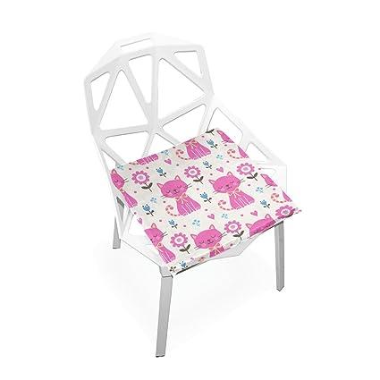 Amazon.com: Almohadillas de silla PLAO color rosa para gatos ...