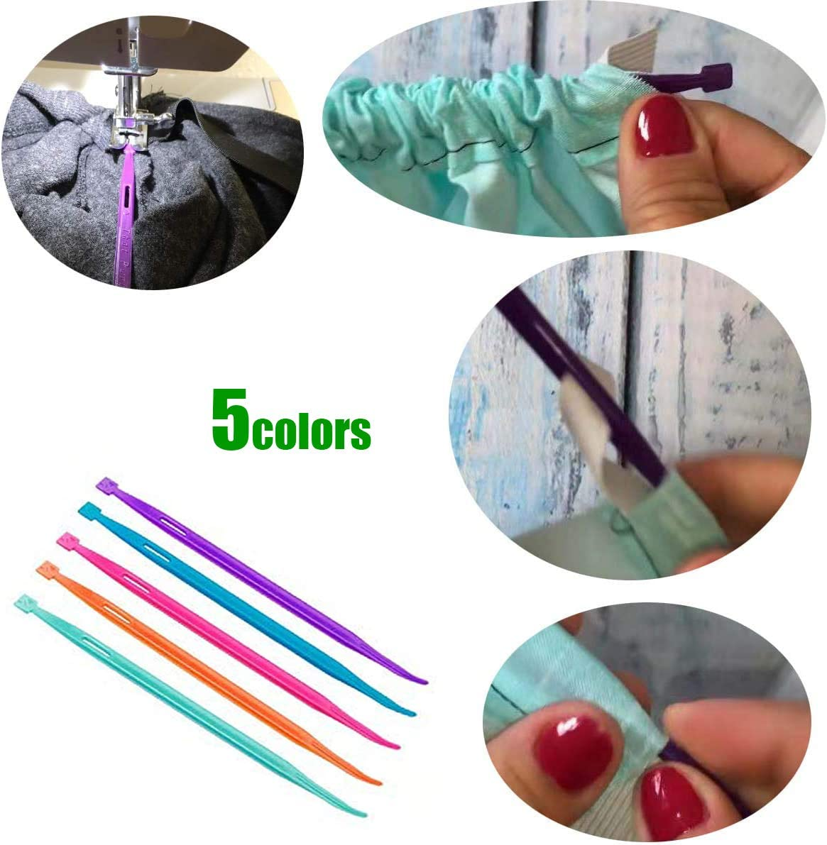 25pcs Sewing Clips for Sewing Craft Projects 5pcs Thang Sewing Tools YICBOR 1pcs Roll /& Press