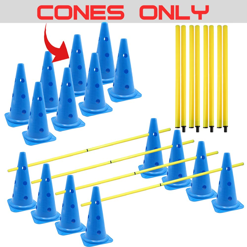 AKA Sports Gear Hurdle-Cones & Poles Set(Cone Only) by AKA Sports Gear