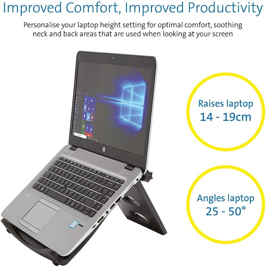 Ultrabooks notebooks /& Chromebooks up to 17 for desktop or lap use with anti-slip pads and fabric back Kensington Laptop Cooling Stand Dual USB powered fans cool laptops K62842WW