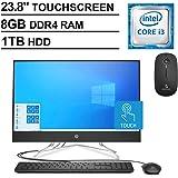 2020 Newest HP 23.8 Inch FHD 1080P Touchscreen All-in-One Desktop| Intel Core i3-8130U up to 3.4GHz| 8GB RAM| 1TB HDD| WiFi| HDMI| Webcam| DVD| Windows 10 + NexiGo Wireless Mouse Bundle