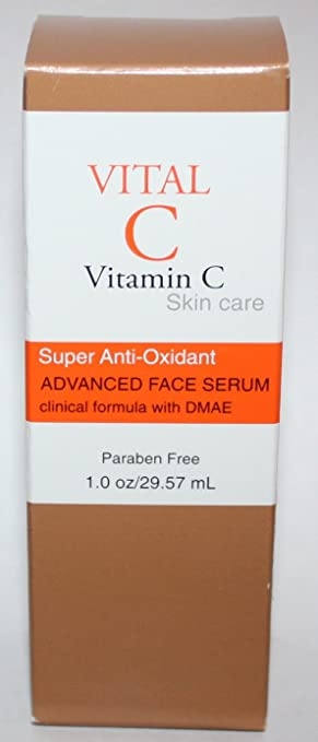 Vital C Vitamin C Super-anti-oxidant Advanced Face Serum with Dmae 1oz
