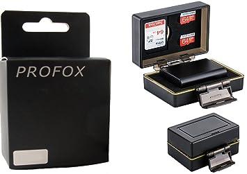 2 – 1 Tarjetas de memoria y batería caja protectora para Canon LP-E6, LP-E6 N – Resistente al agua – Por ejemplo, EOS 5d Mark II, 5d mark iii, 5d mark ...