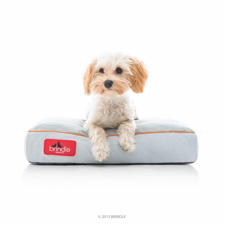 brindle soft memory foam dog pet bed removable washable cover comfy s m l xl new ebay. Black Bedroom Furniture Sets. Home Design Ideas