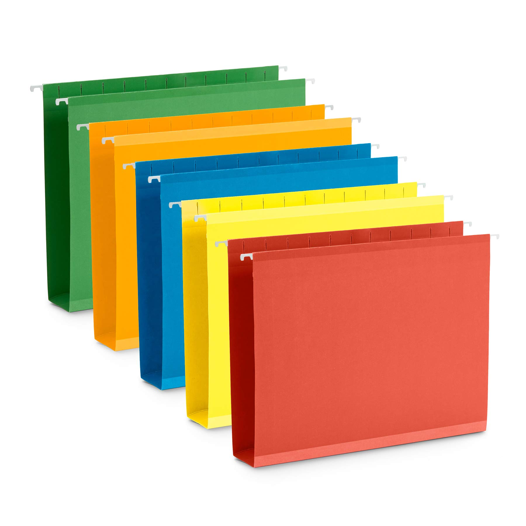 Blue Summit Supplies Extra Capacity Hanging File Folders, 25 Reinforced Hang Folders, Heavy Duty 2 Inch Expansion, Designed for Bulky Files, Medical Charts, Assorted Colors, Letter Size, 25 Pack by Blue Summit Supplies
