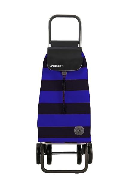 Rolser Pack Lido Logic Dos+2 - Carro de compra plegable de 4 ruedas,