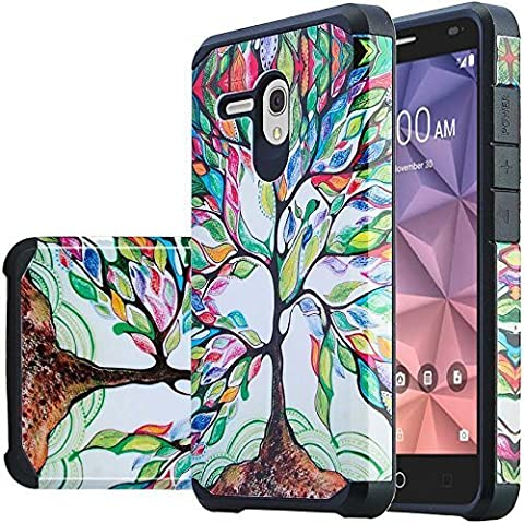 JITTERBUG SMART Case, Phonelicious JITTERBUG SMART [Slim] Dual Layer Durable Hybrid [Drop Protection] [Shockproof] Phone Cover + Screen Protector & Stylus (COLOR (Jitterbug Phone Cover)