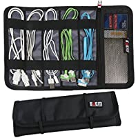 BUBM New Cable & Pens Holder, Cords Stable, Small Electronics Organizer Management Kit, Black
