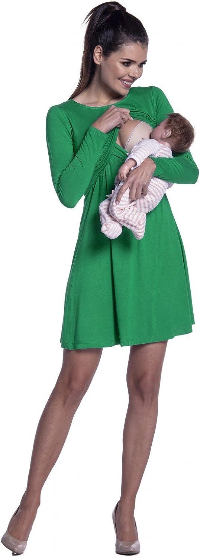 128c Donna Zeta Ville Vestito a Strati Allattamento pr/émaman Manica Lunga
